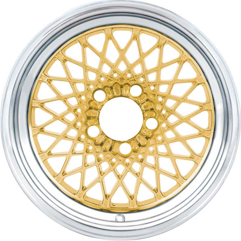 16 X 8 Gold GTA Style Alloy Wheel with 4-3/4 Backspacing and 0mm Offset