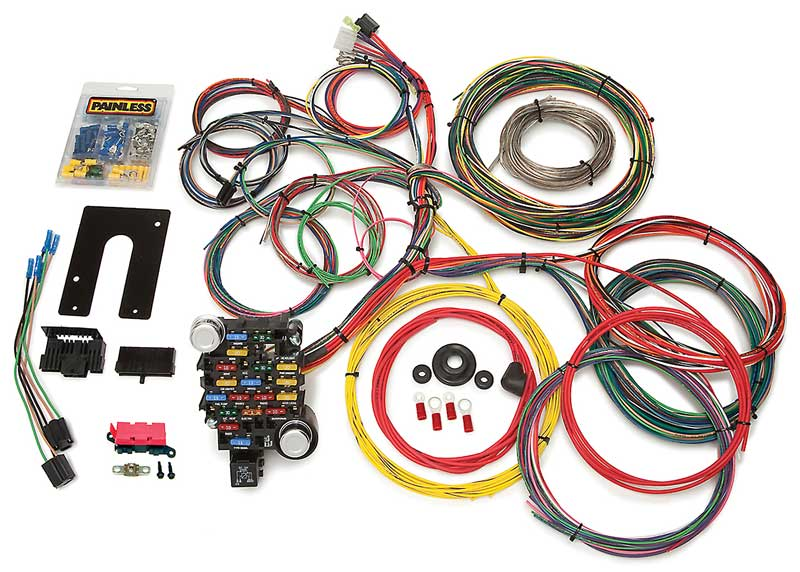 all makes all models parts 10230 gm truck painless 18 circuit wire harness with column
