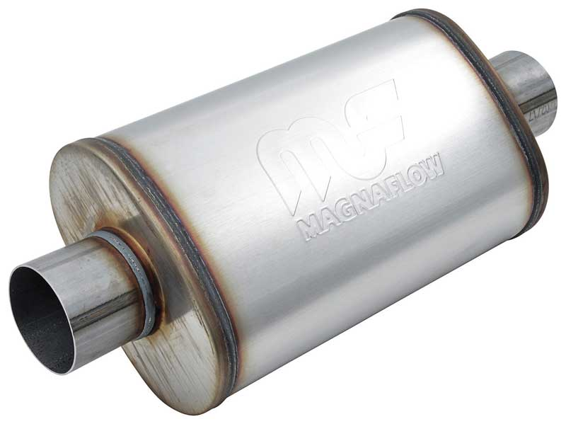 Magnaflow 5 x 8 x 14 Stainless Steel Muffler with 3 Center Inlet / 3 Center Outlet