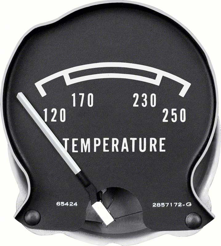mopar parts dash components gauges oe classic industries 1968 70 mopar b body rallye temperature gauge