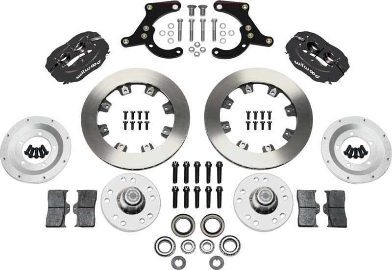 1955-57 Wilwood Pro Series Front Brake Set with Black Anodized Caliper & 11.75 Plain Rotors