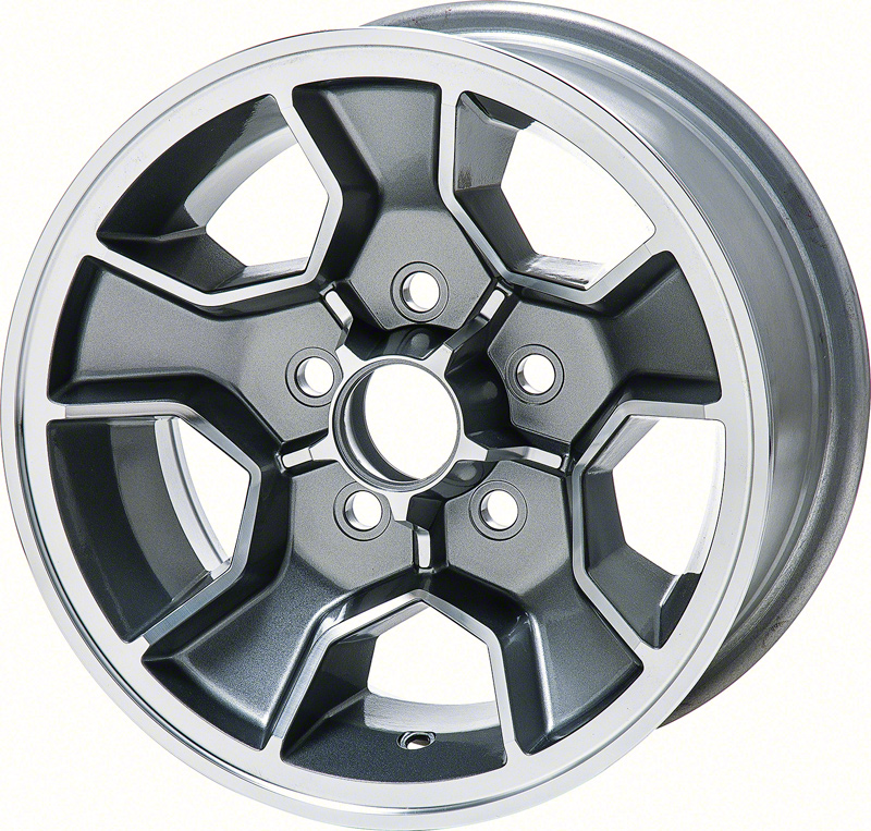 16 X 8 Black GTA Style Alloy Wheel with 4-3//4 Backspacing and 0mm Offset