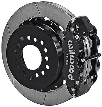 12 Bolt Special, 3.15 Ends Superlite Rear Disc Set w/Park Brake, 13 Slotted Rotors, Black Caliper