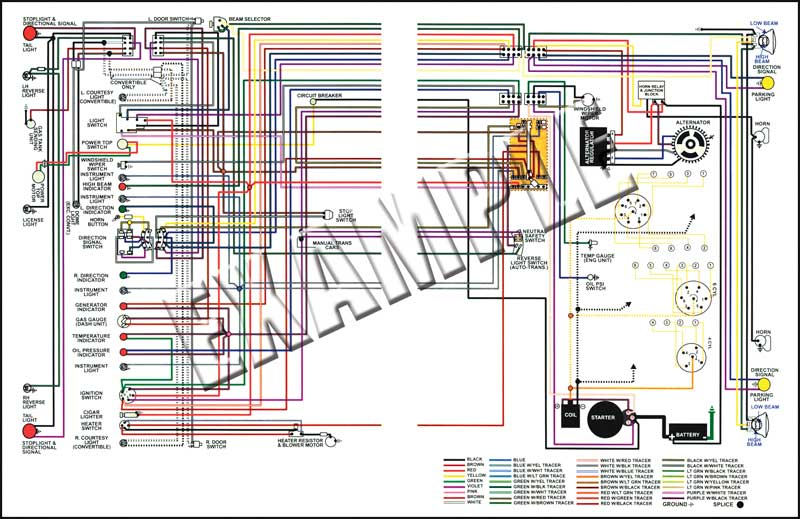nova parts 14369 1969 nova full color wiring diagram 8 1 2 x wiring diagrams