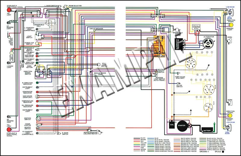 gm truck parts 14505c 1956 chevrolet truck full colored wiring wiring diagrams