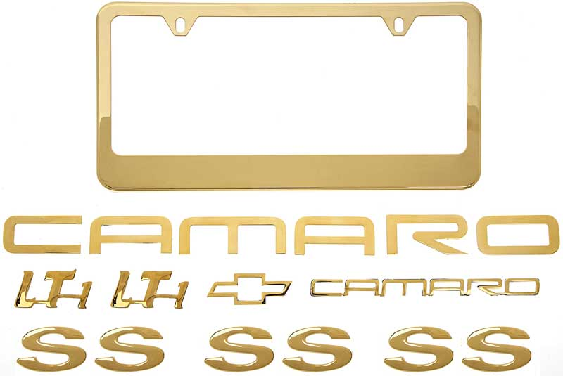 93-97 Camaro Z28 Front And Rear Emblem Set BRUSHED STAINLESS STEEL