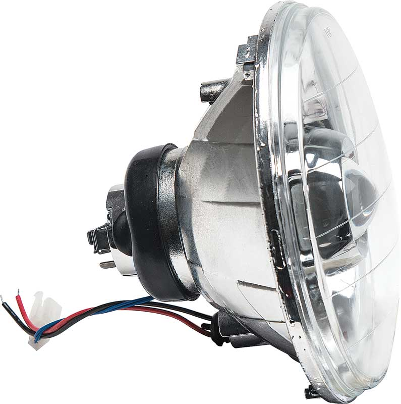 7 Round Projector Style Headlamps with Chrome Housing and 42mm Projector