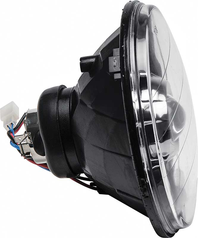 PROJECTOR STYLE HEADLAMPS 7 ROUND BLACK HOUSING - WITH 42MM PROJECTOR