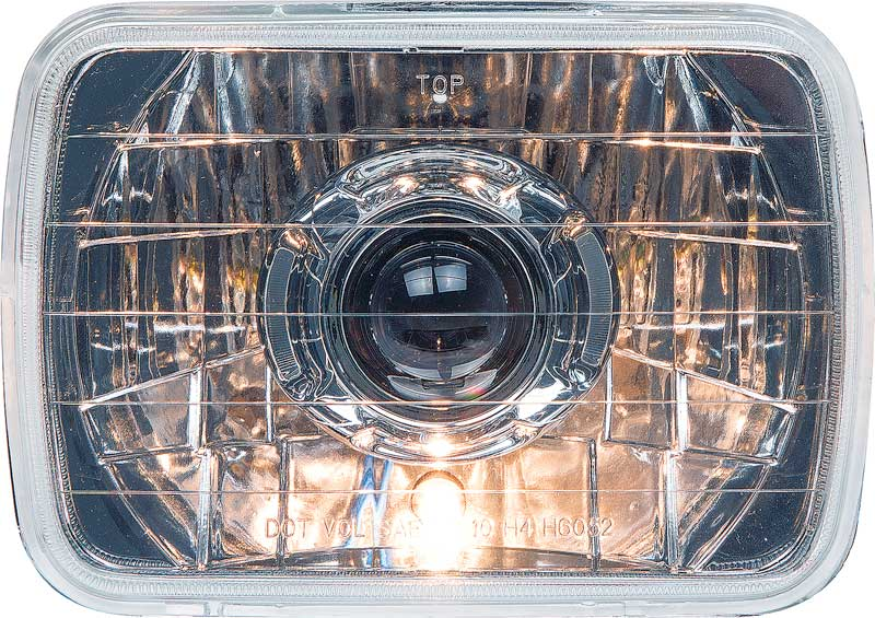 PROJECTOR STYLE HEADLAMPS 7 X 6 CHROME HOUSING