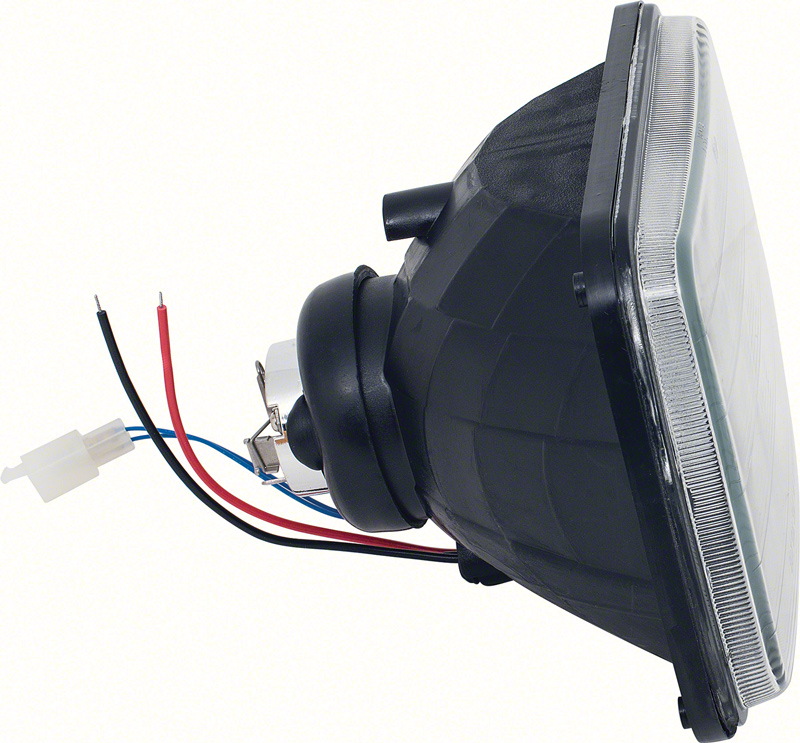 projector Style Headlamps 5-1/2 X 8 Black Housing