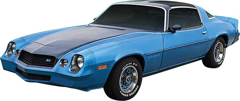 1980 All Makes All Models Parts | 152834BL | 1980 Camaro Rally Sport Dark  Blue / Silver / Light Blue Stripe Set | Classic Industries