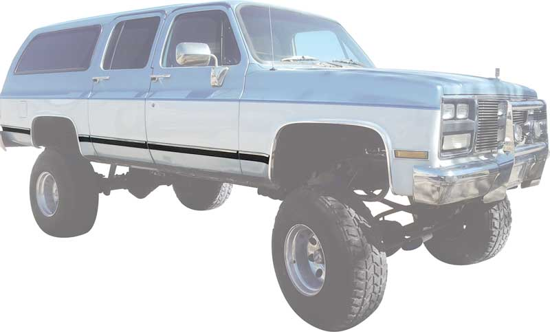 1989-1991 All Makes All Models Parts | 152846 | 1989-91 GMC Suburban Body  Side Moldings | Classic Industries
