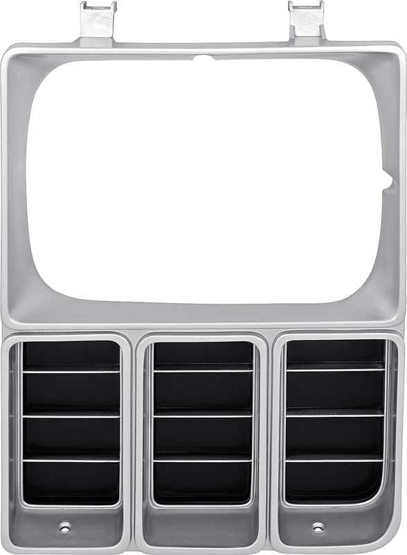 FOR 83-84 Chevy C10-30 Pickup Dual Rectangular Headlight Door Dark Argent SET