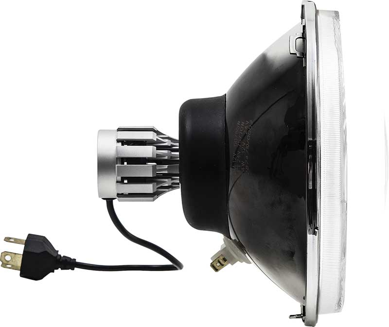 7 LED Headlamp With Modern Style Flat Lens And White Blinker