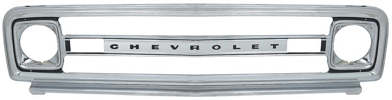 1981-82 Chevrolet Truck Grill Argent Silver