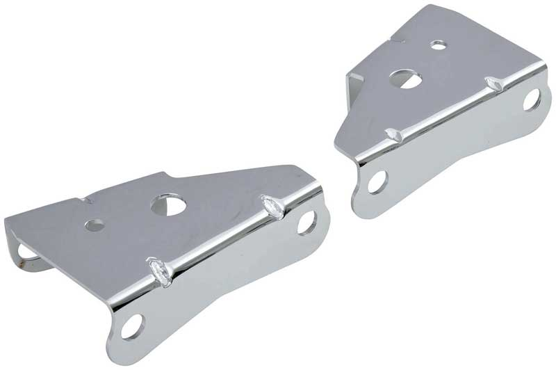 1964-72 GM A-Body / 1967-69 F-Body / 1968-74 Nova Power Brake Booster Brackets - Chrome