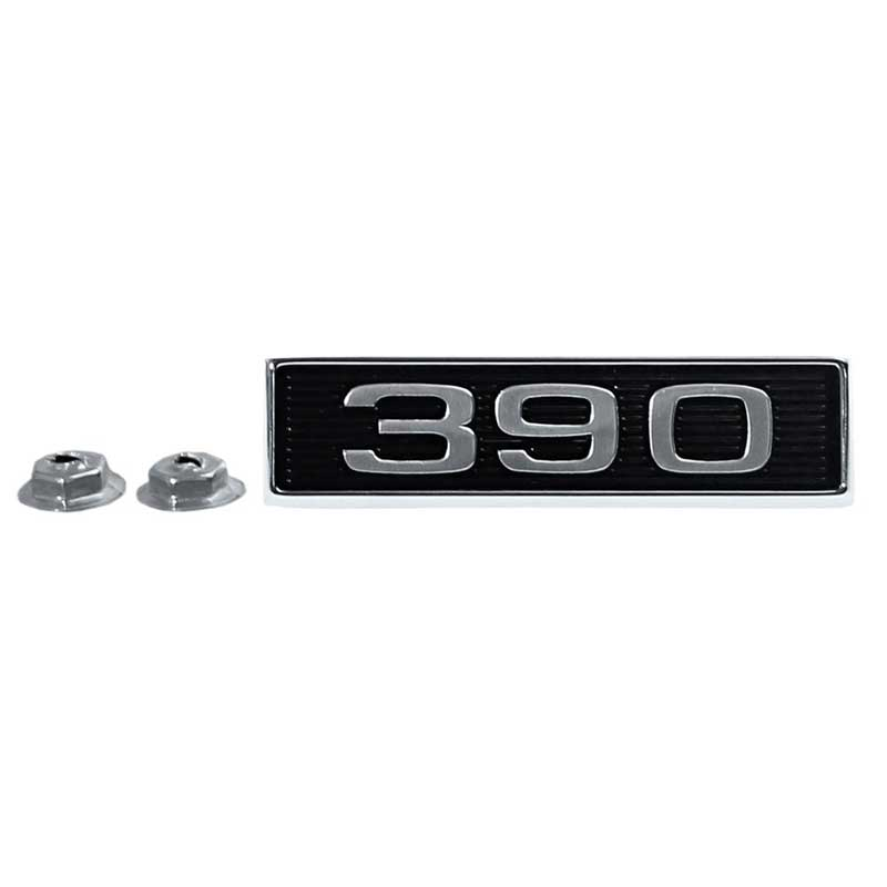 1969 Ford Mustang Parts | 16637A | 1969-70 Mustang 390 Hood Scoop Emblem -  Pin-On Mount - Various Models | Classic Industries