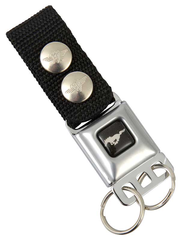 FORD MUSTANG SEAT BELT KEYCHAIN MAE IN AMERICA AND LICENSED BY FORD
