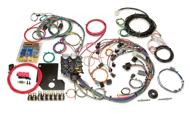 painless performance products all models parts electrical and 1966 67 chevy ii nova painless 21 circuit chassis wiring harness