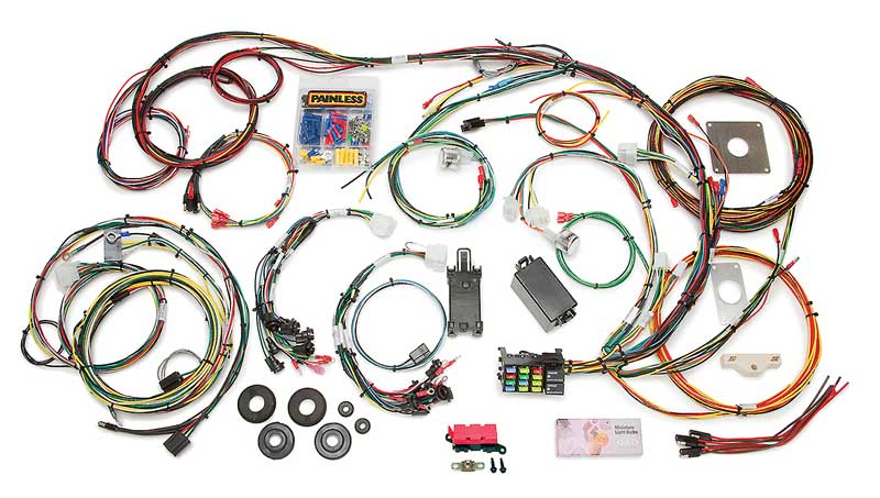 painless performance products all models parts electrical and painless wiring harness diagram 1990 direct fit mustang chassis harness (1965 1966) 22 circuits