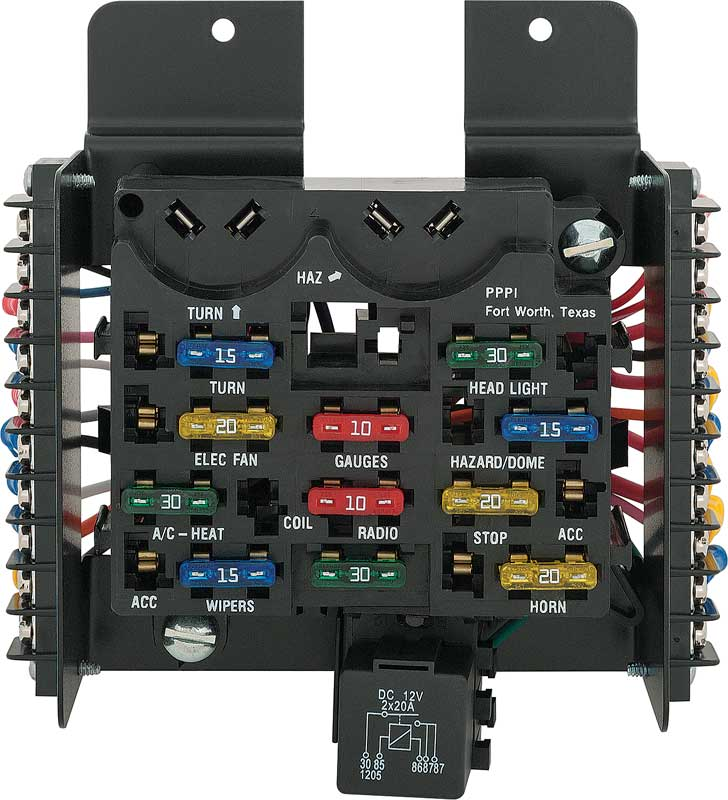painless performance products all models parts classic industries painless 14 circuit universal ato fuse block assembly