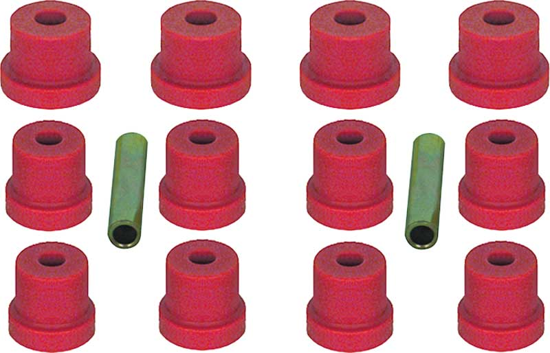1970-81 Camaro/Firebird, 1968-79 X-Body with Multi Leaf Red Polyurethane Leaf Spring Bushing Set