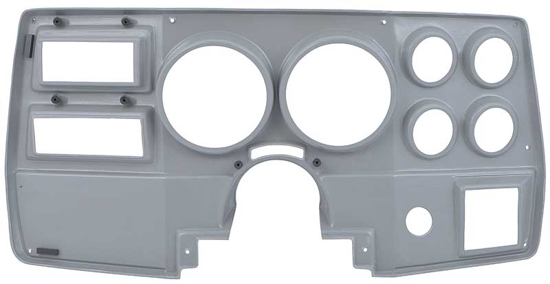 1984-87 GM Truck - 6-Hole Dash Panel without Wiper Switch On Dash - Brushed Aluminum