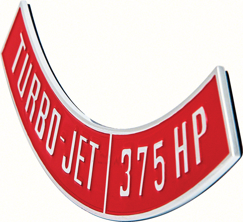 OER® Die-Cast Turbo-Jet 375 HP Air Cleaner Emblem