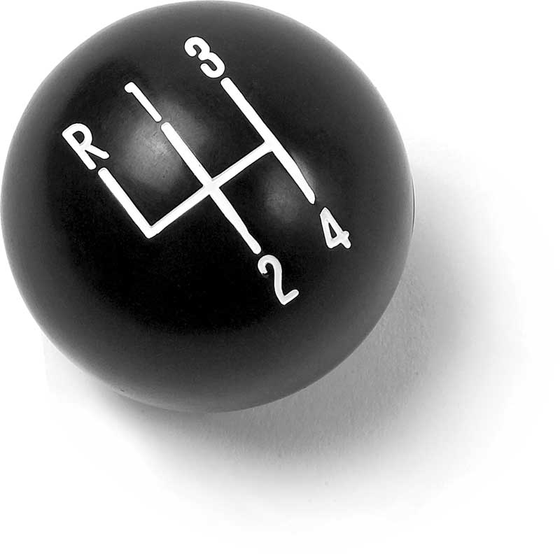 Black 4-Speed Shift Knob with 3/8-16 Thread