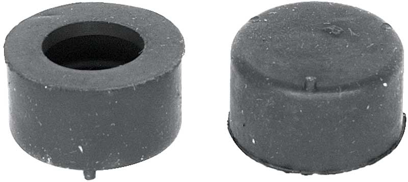1958-84 GM Outer Rear Hood Rubber Stoppers ; Pair