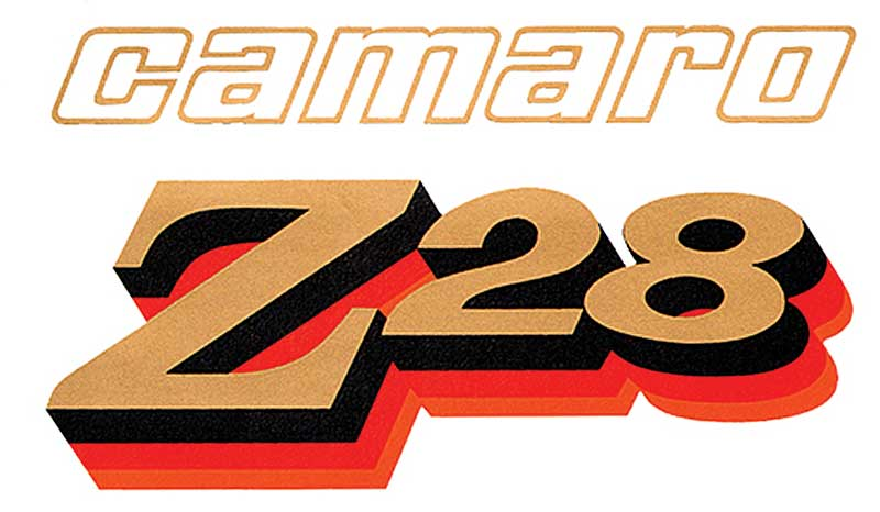 1978 Chevrolet Camaro Parts | 473561 | 1978 Camaro Z28  Gold/Black/Red/Orange Front Fender Decal | Classic Industries