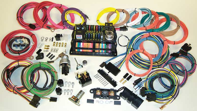 gm truck parts electrical and wiring classic industries highway series modular fuse panel system 22 circuit 15 panel connection universal harness