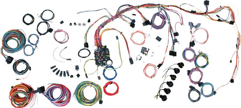 1969 1972 all makes all models parts 500878 1969 72 nova classic update wire harness kit classic industries Wire Harness