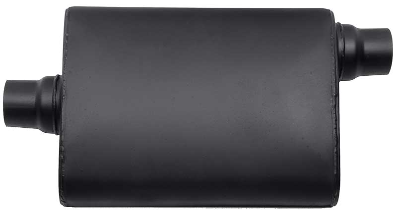 Flowtech Terminator™ Muffler with 2-1/4 Center Inlet - 2-1/4 Offset Outlet