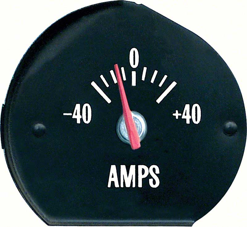 1971-1972 All Makes All Models Parts | 6473695W | 1971-72 Chevelle SS /  Monte Carlo - Amp Gauge with White Markings | OER