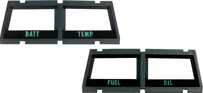 1968-76 Console Battery/Temperature Gauge Bezel