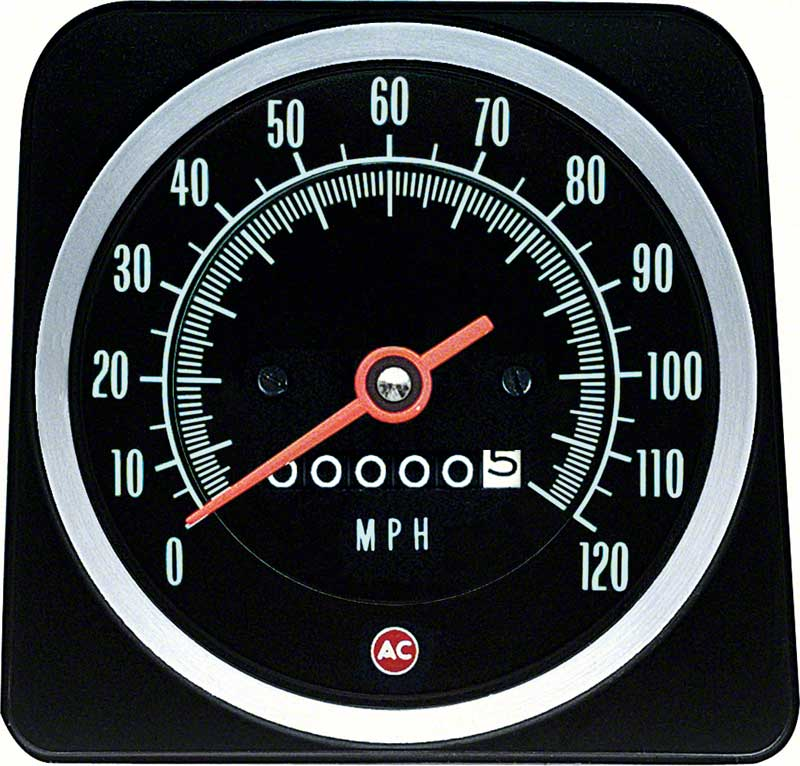 1969 camaro parts dash components gauges oe classic industries 1969 camaro out speed warning 120mph speedometer
