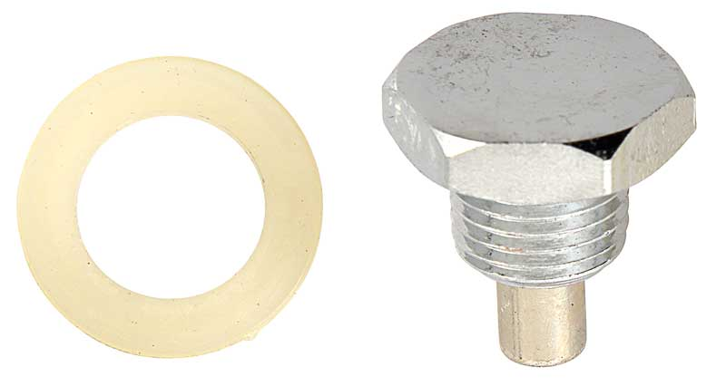 1954-96 Ford / Mercury Magnetic Chrome Oil Pan Drain Plug - 1/2-20 - Mustang / Bronco / F-Series