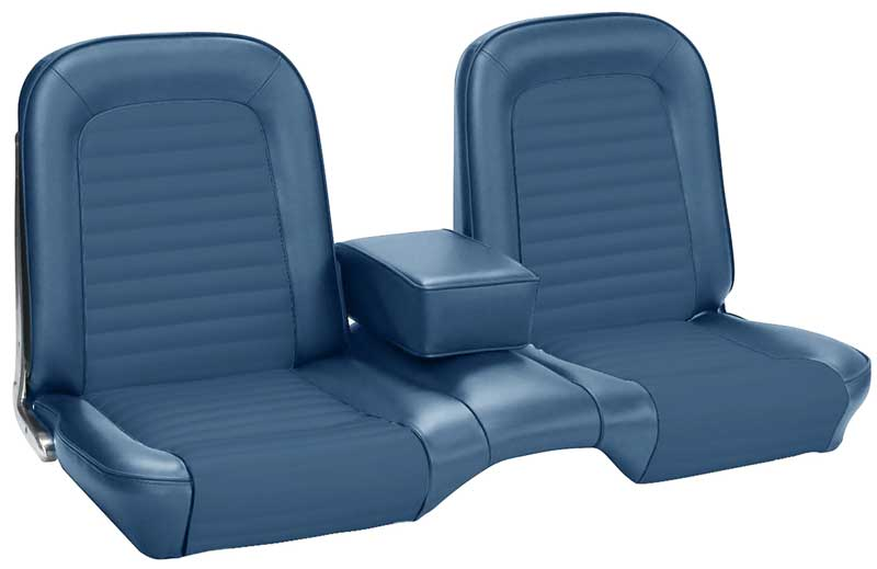 Astonishing 1965 All Makes All Models Parts 67777 2 1965 Mustang Standard Front Only Bench Seat Upholstery Set Blue Classic Industries Caraccident5 Cool Chair Designs And Ideas Caraccident5Info