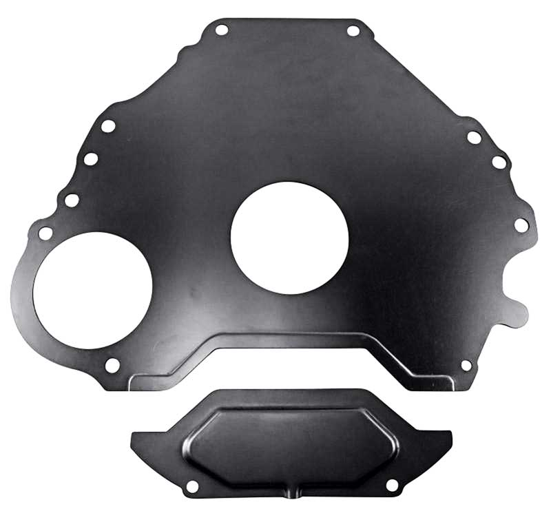 7007d - 1965-68 ford / mercury 289/302 w/ c4 6-bolt transmission to block  spacer plate - mustang / falcon