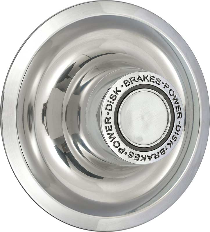 Rally Wheel Dish Cap 1 Taller Stainless Steel Power Disc Brakes