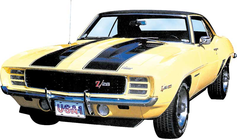 1969 CAMARO Z/28 / PACE CAR STRIPE STENCIL SET