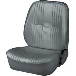 Procar Pro-90 Gray Vinyl Low Back Reclining Bucket Seat Without Headrest; LH