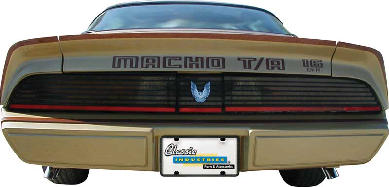 1980 Macho Trans-Am Turbo Charge Decal / Stencil Set