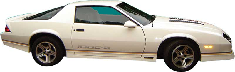 1988-1990 All Makes All Models Parts | 80590 | 1988-90 Camaro Iroc-Z Gold /  Black Stripe Only Set | Classic Industries