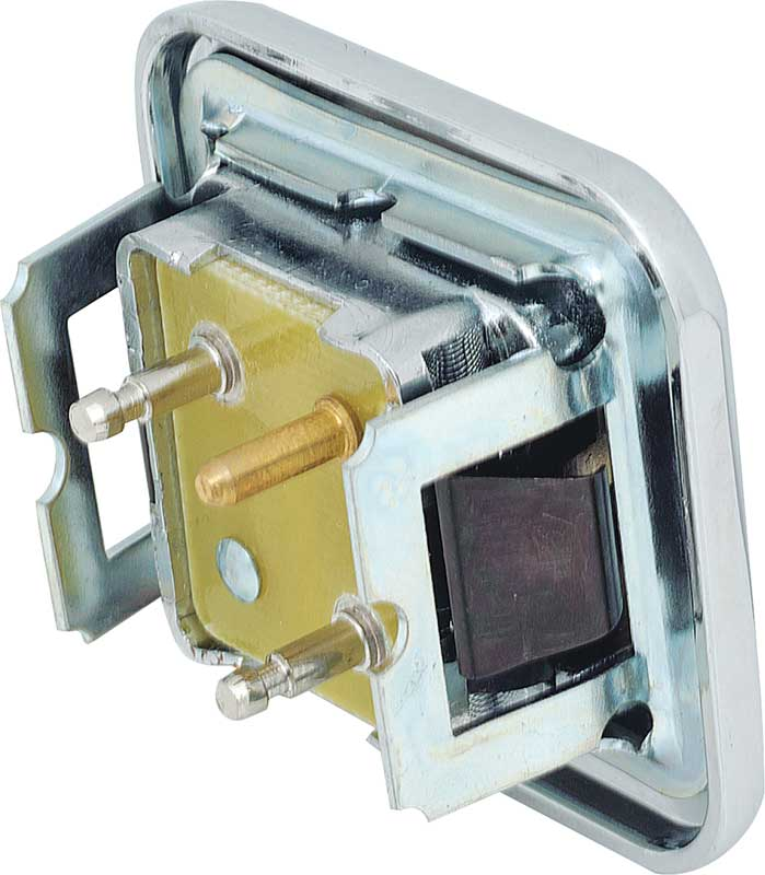 1968-70 Single Button Power Door Lock Switch - Chrome
