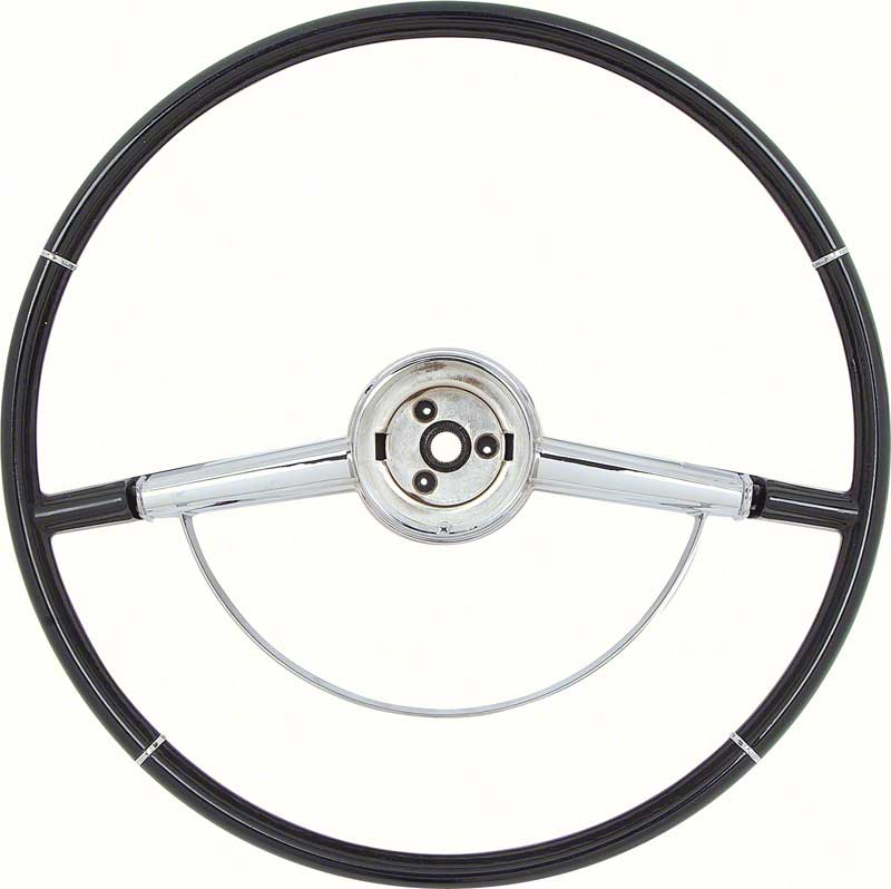 64 Impala Two Tone Blue Steering Wheel With Horn Ring 16