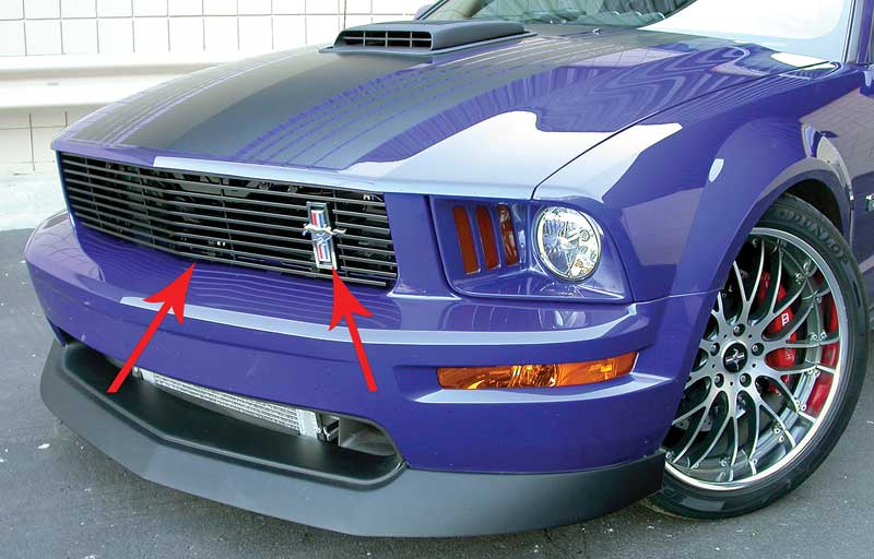 Stainless//Polished Line Style Speaker Grille Kit for 05-09 Ford Mustang V6//GT