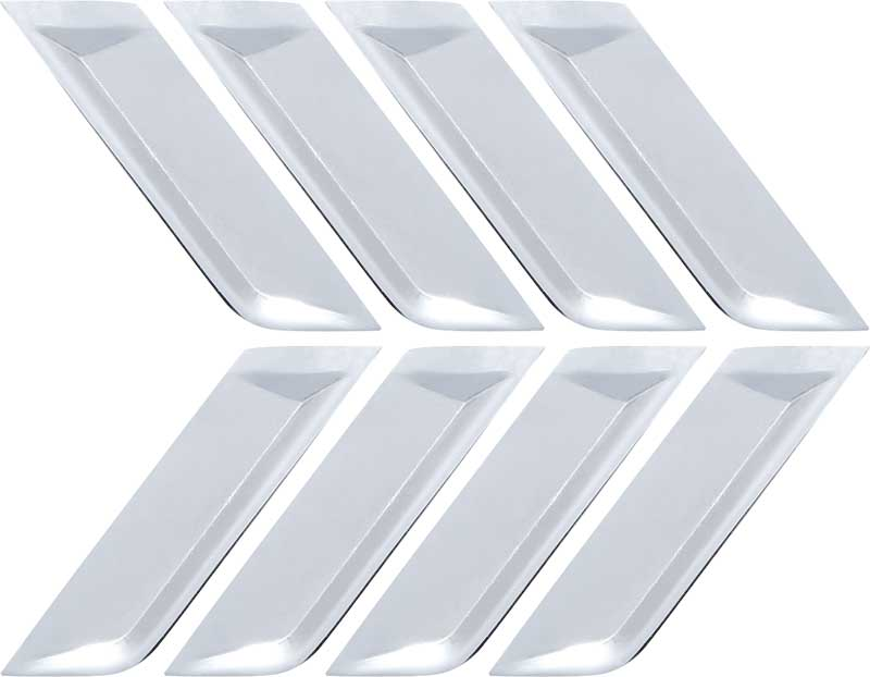 63 Chevy Impala Biscayne Bel Air Front Fender Side Ornaments Louvers
