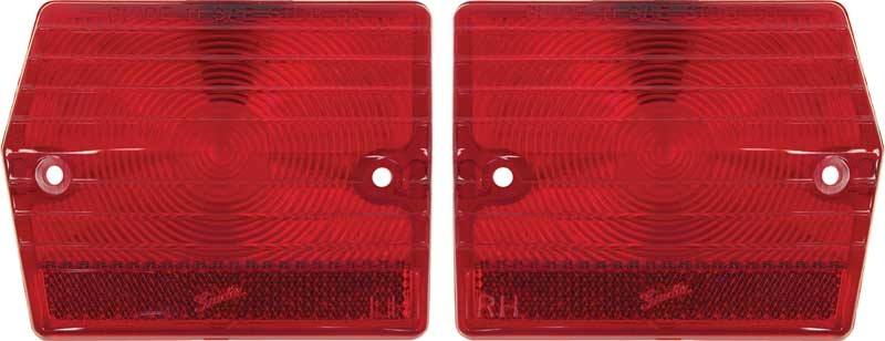 1965 Chevy II Taillight Tail Light Lamp Lens PAIR Trim Parts Made in the USA